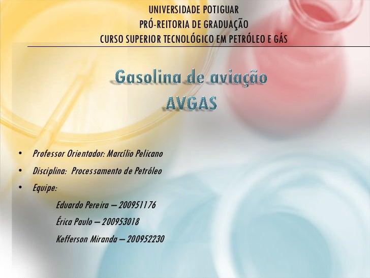 UNIVERSIDADE POTIGUAR                                PRÓ-REITORIA DE GRADUAÇÃO                       CURSO SUPERIOR TECNOL...