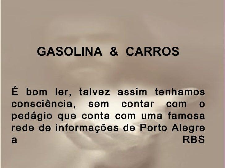 Gasolina e carrros argentinos Slide 2