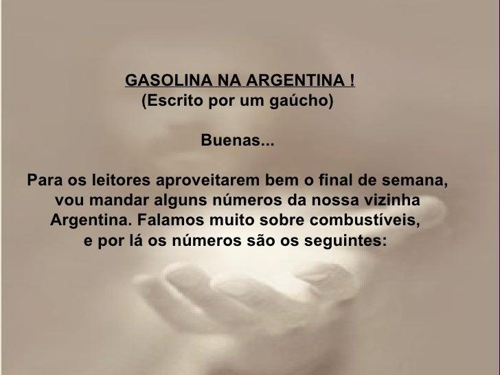 Gasolina e carrros argentinos Slide 3