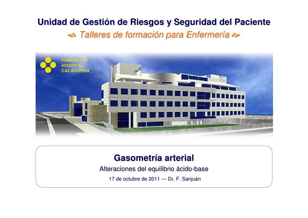 Unidad de Gestión de Riesgos y Seguridad del Paciente         Talleres de formación para Enfermería      FUNDACIÓN     HO...
