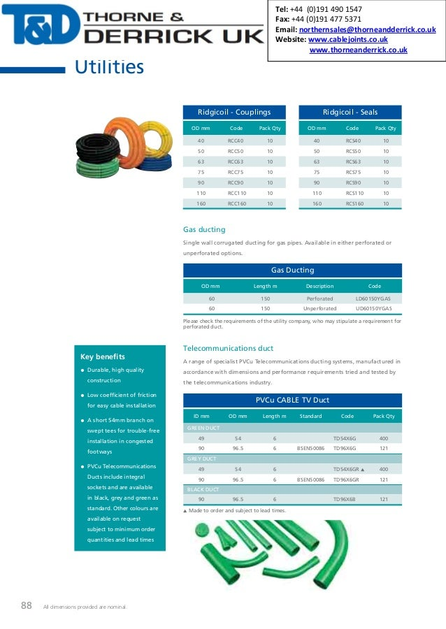 88 All dimensions provided are nominal. Gas ducting Single wall corrugated ducting for gas pipes  sc 1 st  SlideShare & Gas Pipe Ducting - Polypipe