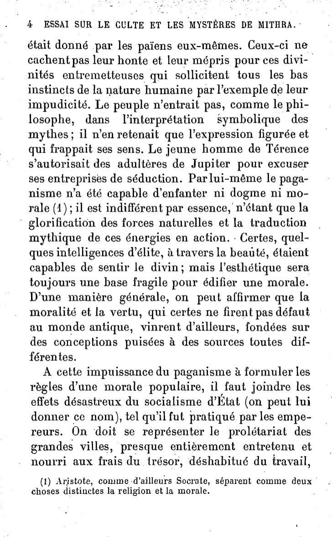 """ESSAI SUR LE CULTE ET """"LES MYSTÈRES DE MITHRA.                            9mystères de Samothrace et de Liber, et même àce..."""