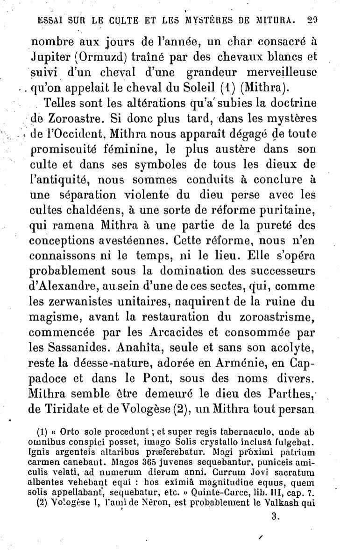 34         ESSAI SUR LE CULTE Eï LES MYSTÈRES DE MITIIRA. Néron         lui fait           accueil et     demande,        ...