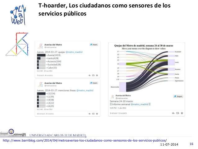 11-07-2014 16 T-hoarder, Los ciudadanos como sensores de los servicios públicos http://www.barriblog.com/2014/04/metroaver...