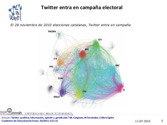11-07-2014 6 El 28 noviembre de 2010 elecciones catalanas, Twitter entra en campaña Twitter entra en campaña electoral Art...
