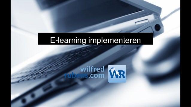 E-learning implementeren