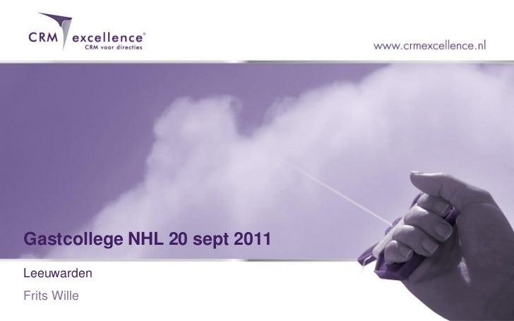 Gastcollege NHL 20 sept 2011LeeuwardenFrits Wille