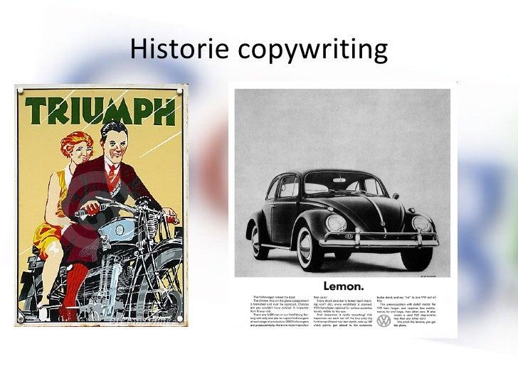 Historie copywriting