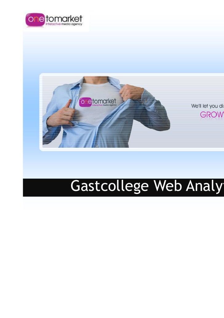Gastcollege Web Analytics