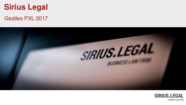 Sirius Legal Gastles PXL 2017