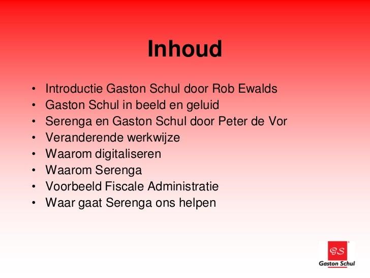Gaston schul over Exportdocumenten en Serenga Slide 2