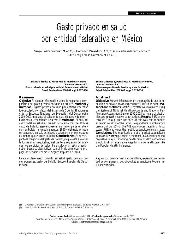 Gasto privado en salud en México                                                                                         A...