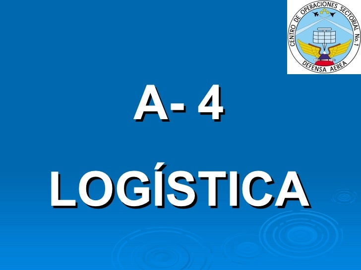 A- 4 LOGÍSTICA