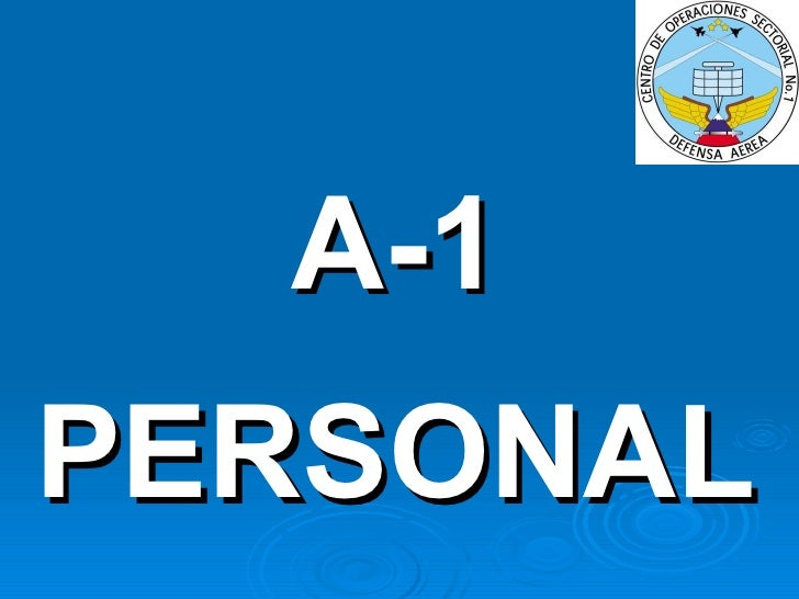 A-1 PERSONAL