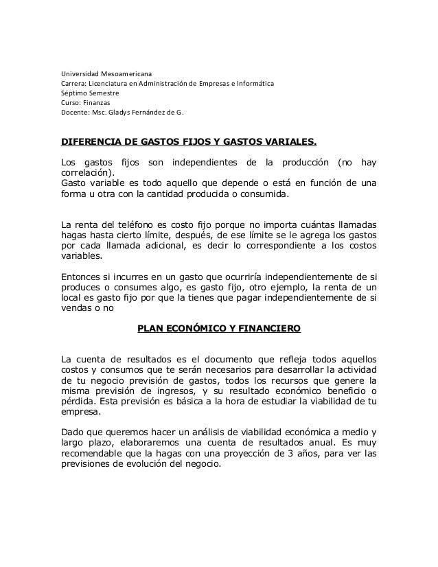 Universidad Mesoamericana Carrera: Licenciatura en Administración de Empresas e Informática Séptimo Semestre Curso: Finanz...