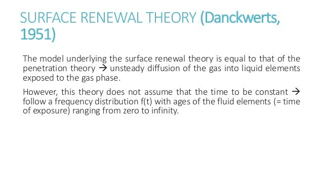 Surface penetration theory in mass transfer