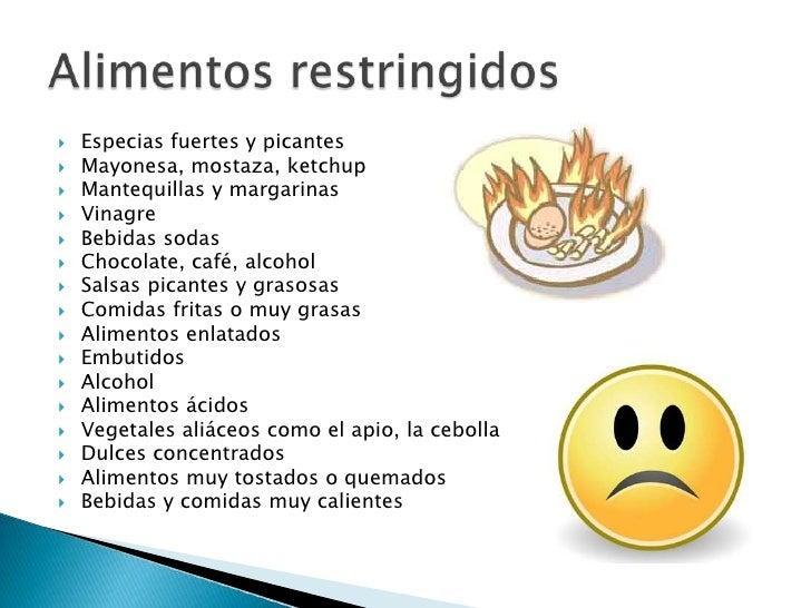 Gastritis Que Alimentos Evitar