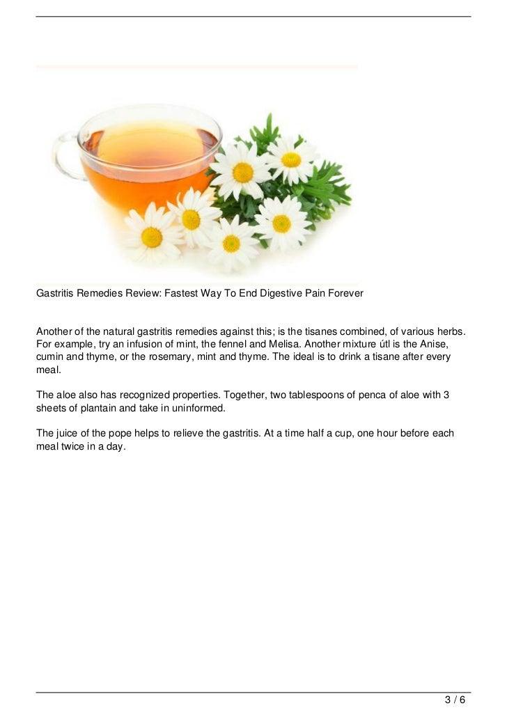 Natural Remedies Against Gastritis
