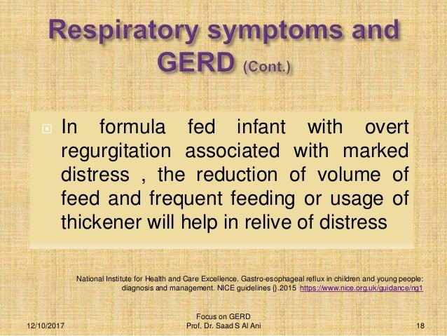 Gastro esophageal reflux disease(GERD)