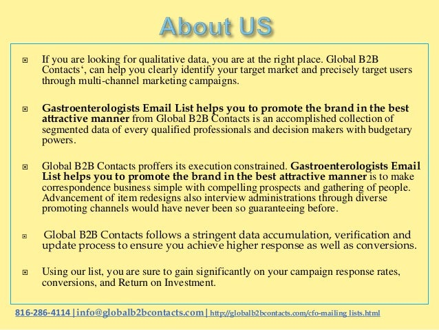 Gastroenterologists email list helps you to promote the brand in the best attractive manner Slide 2