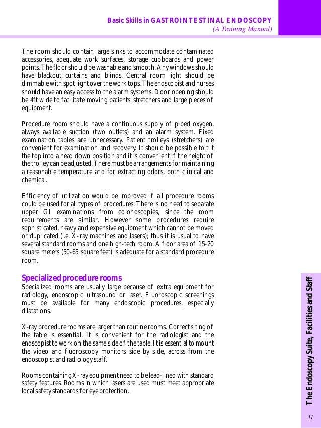 Endoscopy Suite: Gastrointestinal Endoscopy Training Manual