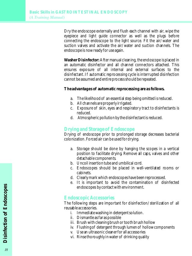 gastrointestinal endoscopy training manual rh slideshare net cleaning staff training manual cleaning training manual laboratory