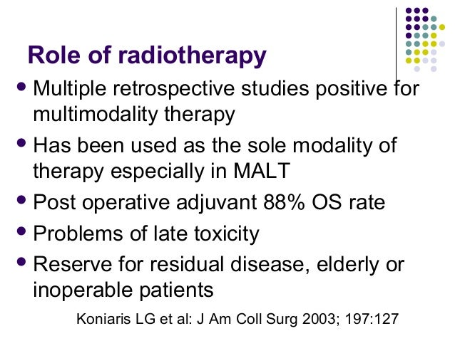 What therapy? Stage IPI Rx 5yr MSur Limited stage Proposed description I, IE 0 CHOP(3) + RT >90% Yes Very limited I, IE, I...