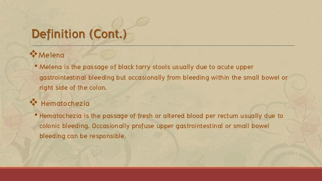 Gastrointestional Bleeding