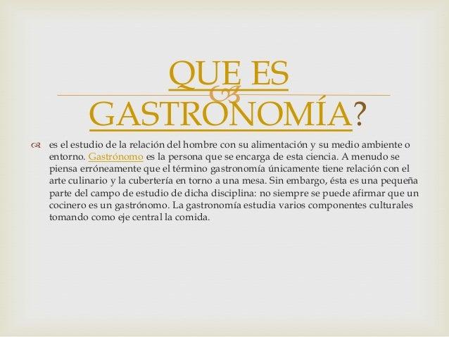 Historia de la gastronomia for Que es la comida molecular