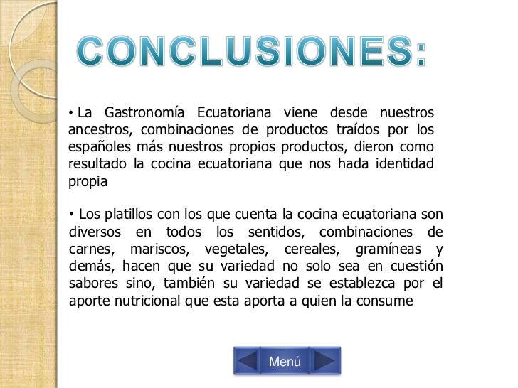 Gastronom a ecuatoriana diapositivas for Introduccion a la gastronomia pdf