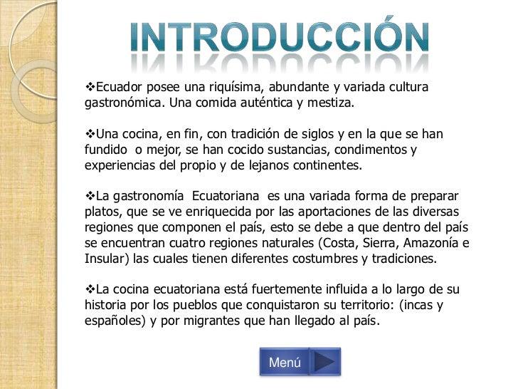 gastronom a ecuatoriana diapositivas