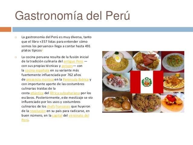 Gastronom a peruana for Introduccion a la gastronomia pdf