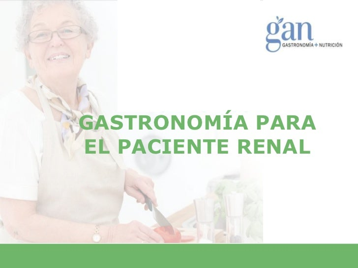GASTRONOMÍA PARAEL PACIENTE RENAL
