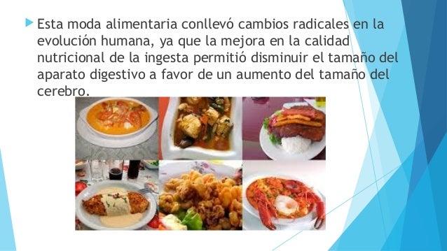  Esta moda alimentaria conllevó cambios radicales en la evolución humana, ya que la mejora en la calidad nutricional de l...
