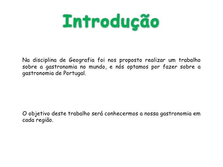 Diversidade Cultural - A Gastronomia em Portugal Slide 3