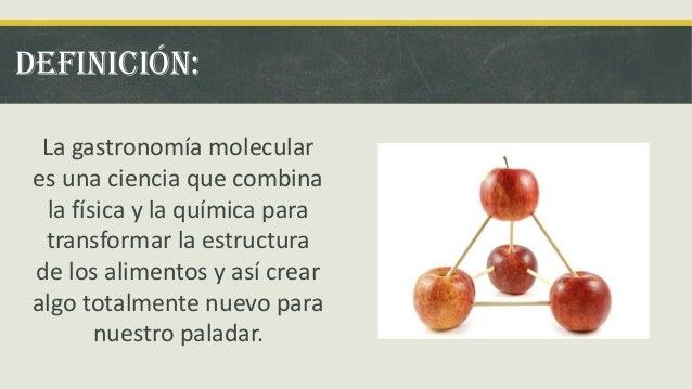 Gastronomia molecular for Caracteristicas de la cocina molecular