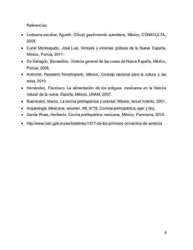 Gastronomia novohispana Procesos de cocina jose luis armendariz