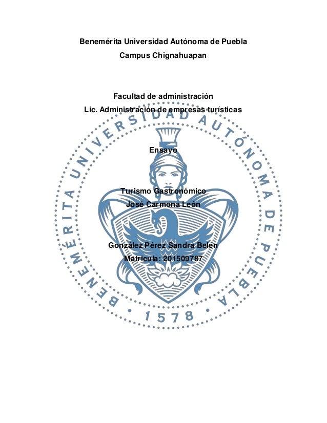 Benemérita Universidad Autónoma de Puebla Campus Chignahuapan Facultad de administración Lic. Administración de empresas t...