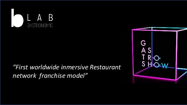 """First worldwide inmersive Restaurant network franchise model"""