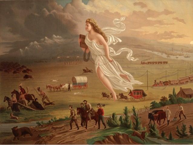 "John  Gast,  1872   ""American Progress"" or ""The Spirit of Manifest Destiny"""