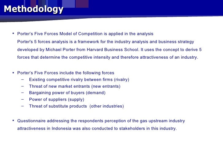 porter ive force model on petroleum industry A five forces analysis (porter's model) of the company shows the need to strategically prioritize competition and the bargaining power of customers in the industry environment michael porter's five forces analysis model is a management tool for understanding the impacts of external factors in a firm's environment.