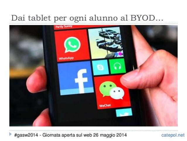 Dai tablet per ogni alunno al BYOD… catepol.net#gasw2014 - Giornata aperta sul web 26 maggio 2014