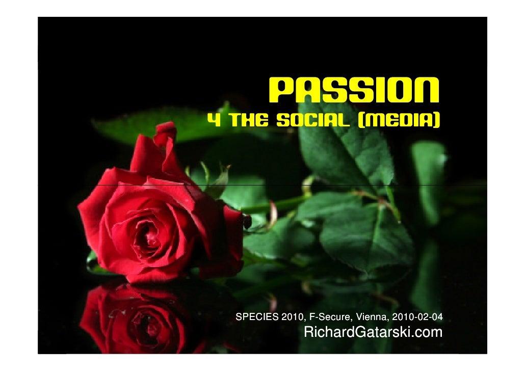 sociala medier                              PASSION                  4 THE SOCIAL (MEDIA)                        SPECIES 2...