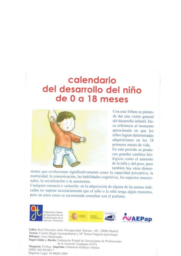 Calendario del desarollo del ni o de 0 a 18 meses 2 - Cenas rapidas para ninos de 18 meses ...