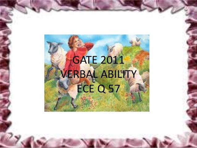 GATE 2011VERBAL ABILITY   ECE Q 57