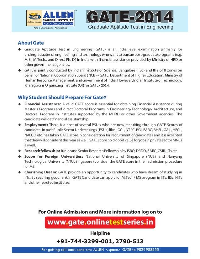 Gate 2014 online test series Slide 3