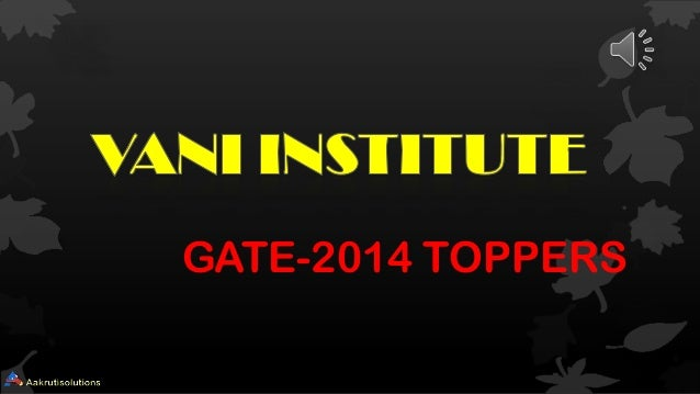 GATE-2014 TOPPERS