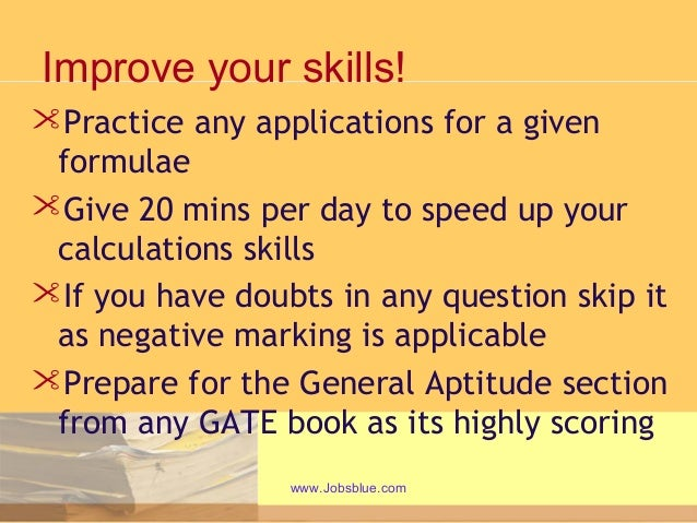 gate exam tips Study material, previous year papers and sample questions for gate exam.
