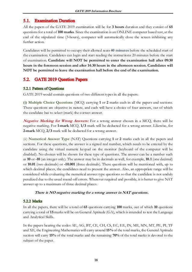 GATE Exam 2019 - Registration, Syllabus, Results, Exam