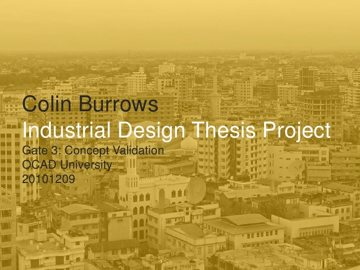 design industrial thesis university